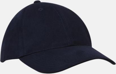 Marinblå klassiska basebollkepsar med reklambrodyr