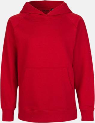 Röd Ekologiska barntröjor med eller utan blixtlås - med reklamtryck