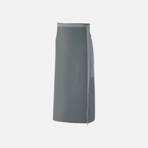 Silvergrå (100 x 80 cm) Förkläden i 5 varianter med reklamtryck