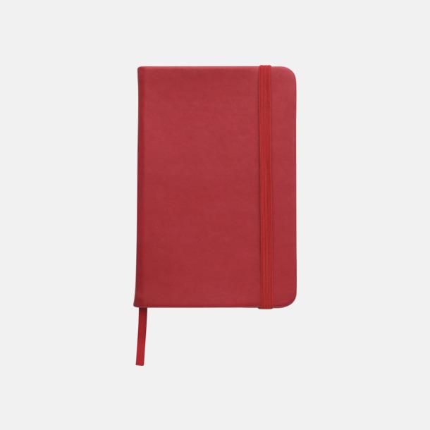 Röd Färgrika A6-anteckningsböcker med tryck