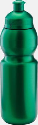 Metallic grön (300 ml) Bulb-vattenflaskor i 4 storlekar med digitaltryck