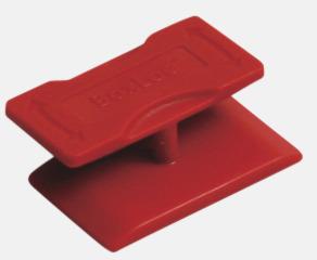 Röd Smart kartonglås med tryck