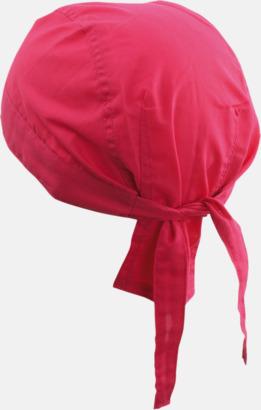 Rosa (hatt) Bandanas i två varianter med reklambrodyr