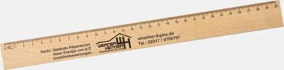 30 cm Trälinjaler i två storlekar med reklamtryck