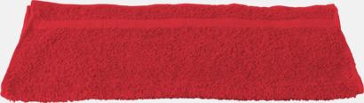 Röd Gymhandduk med egen brodyr