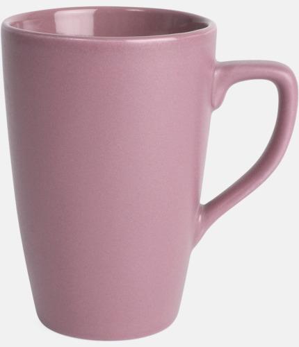 Rosa Klassiska kaffemuggar med eget tryck