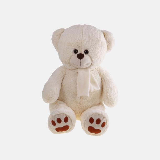 Beige björn (46 cm) Gosedjur med reklamtryckta halsdukar
