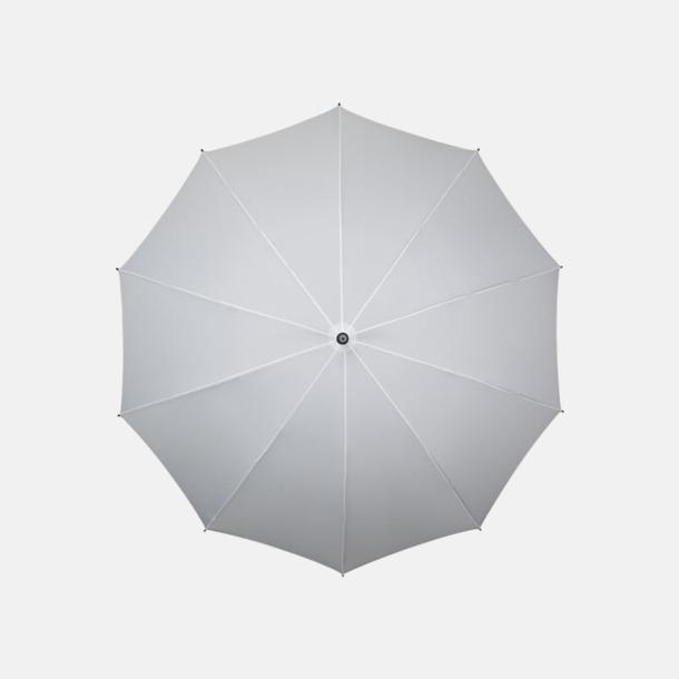 Vit Stora golfparaplyer med eget reklamtryck