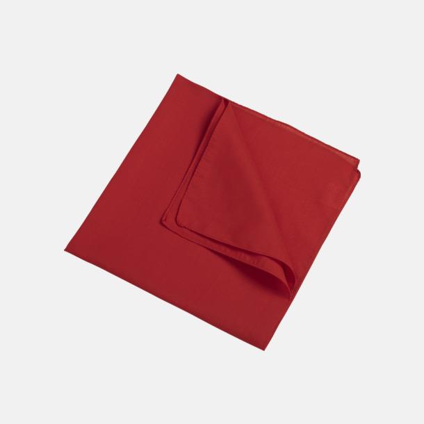 Röd (scarf) Bandanas i två varianter med reklambrodyr
