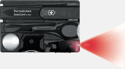 Transparent antracit SwissCard Lite från Victorinox med reklamlogga