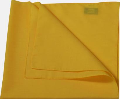 Sun Yellow (scarf) Bandanas i två varianter med reklambrodyr