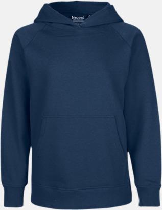 Marinblå Ekologiska barntröjor med eller utan blixtlås - med reklamtryck