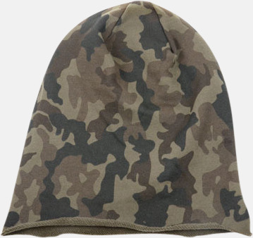 Camouflage Varma beanie-mössor med tryck eller brodyr