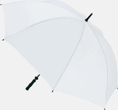 Vit Golfparaplyer med eget tryck