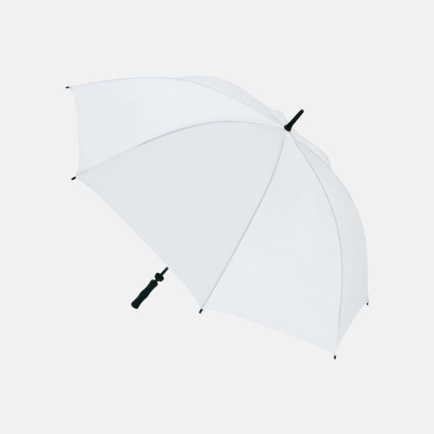 Vit Golfparaplyer med eget reklamtryck
