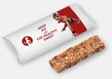 Müsli cerealbars med reklamtryck