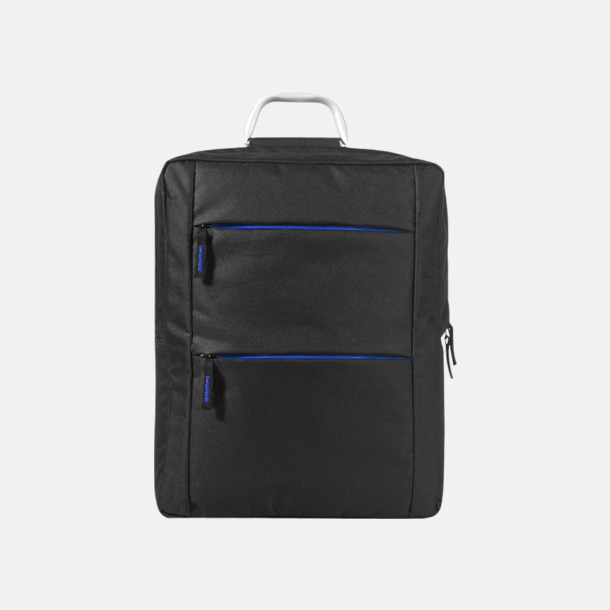Svart/Royal Laptopbagar med handtag i aluminium - med reklamtryck