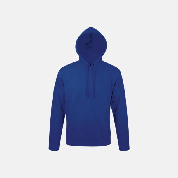 Royal Blue Tjocka huvtröjor i unisexmodell med reklamtryck