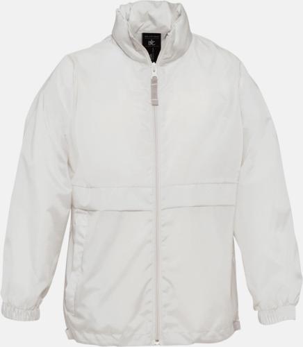 Vit (barn) Vind- och vattentäta jackor för dam, herr och barn - med tryck