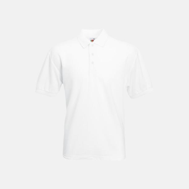 Vit Pikétröjor med reklamtryck eller brodyr