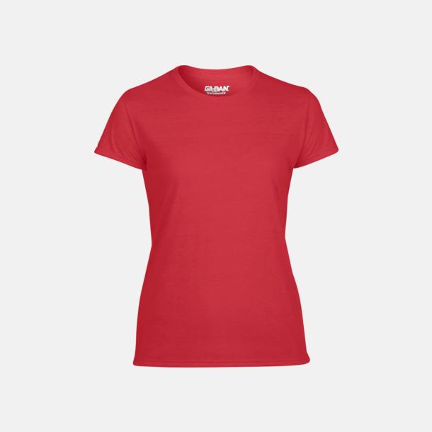 Röd Fräshcare funktionströjor med tryck