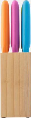 Färgglada knivar i rostfritt stål med reklamlogo