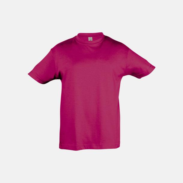 Fuchsia Billig barn t-shirts i rmånga färger med reklamtryck
