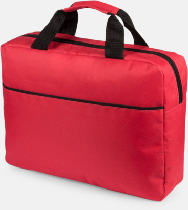 Röd Dokumentväska med reklamtryck
