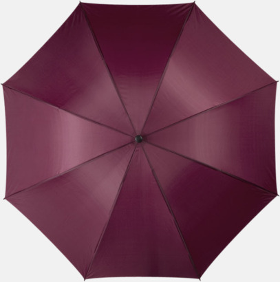 """Mörkröd 30""""-stormparaplyer med reklamtryck"""