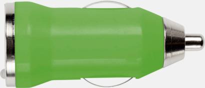 Grön Laddare för cigarettuttaget med reklamtryck