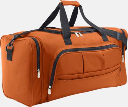 Orange Stora axelväskor för resor - med tryck