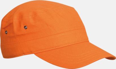 Orange Armékepsar i barnstorlek med reklambrodyr