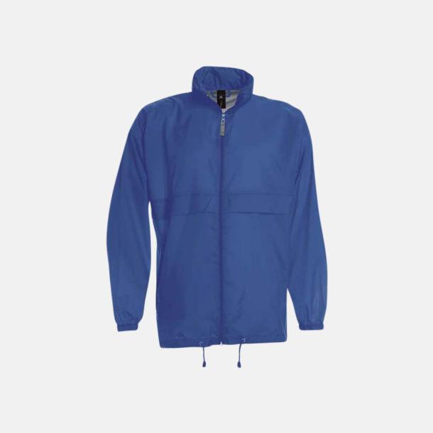 Royal Blue (unisex) Vind- och vattentäta jackor för dam, herr och barn - med tryck