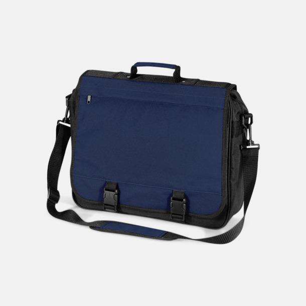 Marinblå Laptopväskor med reklamtryck