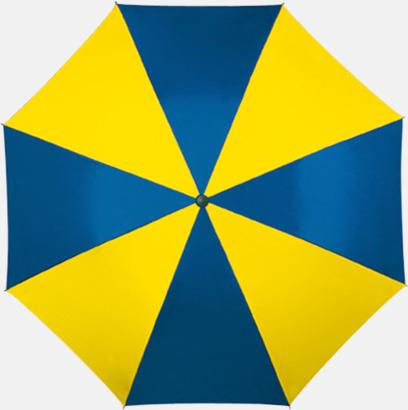 Gul / Blå Randiga paraplyer med eget tryck