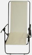 Vit (enkel) Lyxig brassestol med kudde och väska med eget reklamtryck