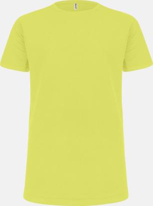 Fluorescerande Gul Funktions t-shirts i många färger för barn - med reklamtryck