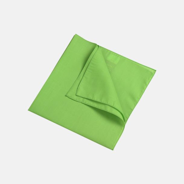 Limegrön (scarf) Bandanas i två varianter med reklambrodyr