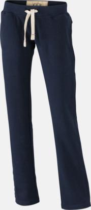 Marinblå (dam) Färgglada mjukisbyxor i herr- och dammodell med reklamtryck