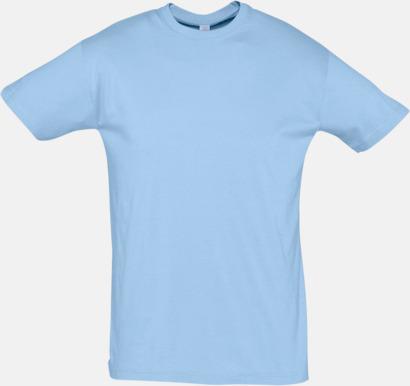 Sky Blue Billiga herr t-shirts i rmånga färger med reklamtryck