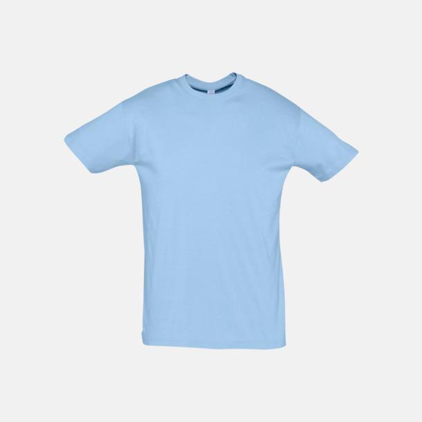 Sky Blue Billiga unisex t-shirts i många färger med reklamtryck