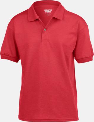 Röd Billiga barnpikétröjor med tryck eller brodyr