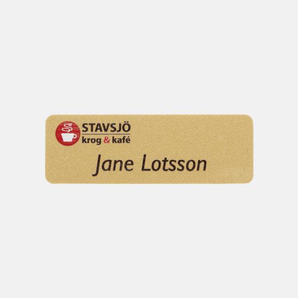Guld Namnbrickor med egen logo