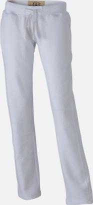 Vit (dam) Färgglada mjukisbyxor i herr- och dammodell med reklamtryck