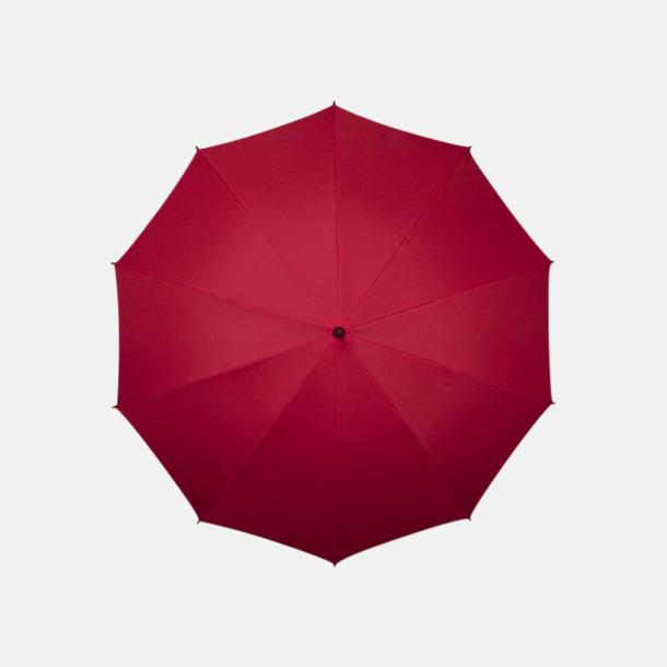Röd (PMS 187C)  Stora golfparaplyer med eget reklamtryck