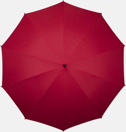 Röd (PMS 187C)  Stora golfparaplyer med eget tryck
