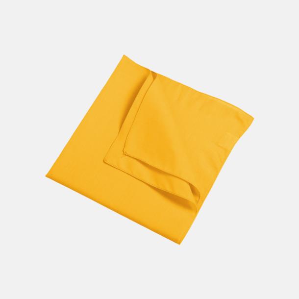Guld (scarf) Bandanas i två varianter med reklambrodyr