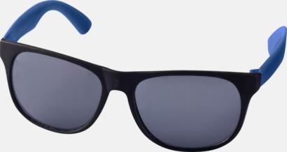 Blå Klassiska solglasögon med bågar i kontrasterande färg - med tryck