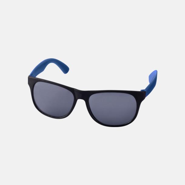 Blå Klassiska solglasögon med bågar i kontrasterande färg - med reklamtryck