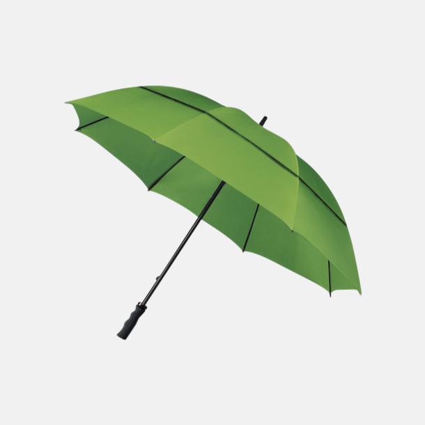 Grön (PMS 7489C) Stormsäkra paraplyer med eget tryck